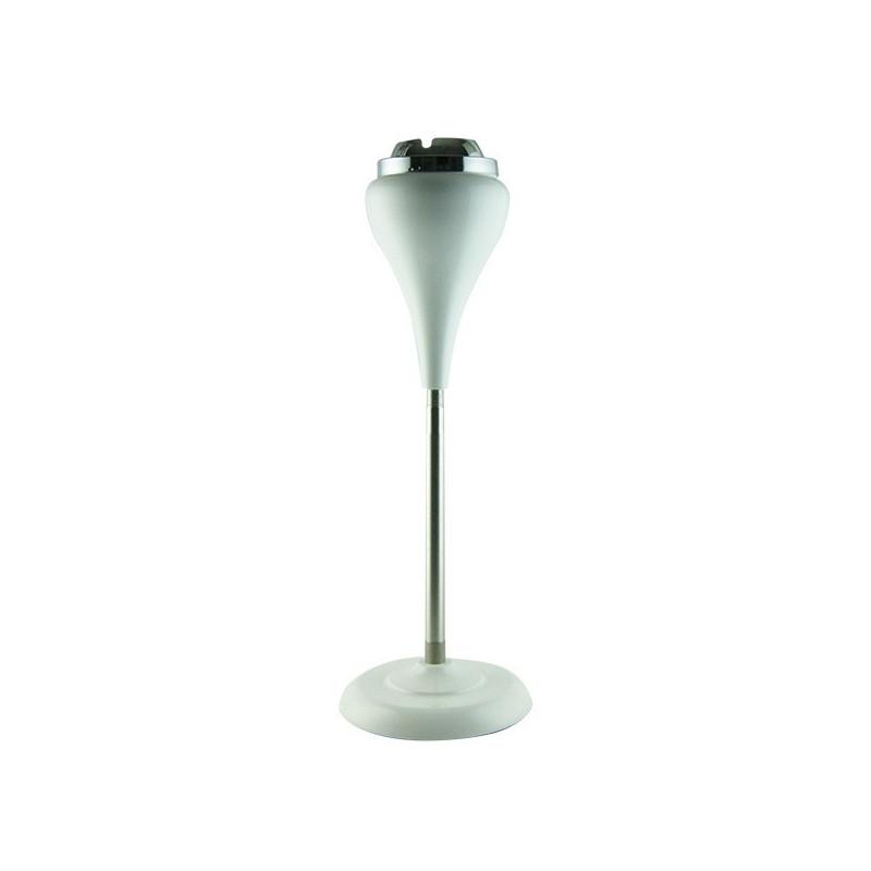 CENDRIER DESIGN BLANC GOUTTE CORBEILLE 15cm pied reglable 60cm telescopique