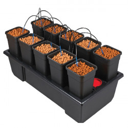 Nutriculture - Wilma small wide 10 pots complet 6L , système hydroponique goutte à goutte