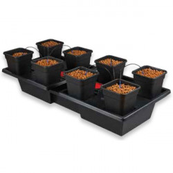 Nutriculture - Wilma large wide 8 pots complet 11L , système hydroponique goutte à goutte