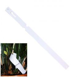 Etiquettes boucle PVC Blanc - 1,275x22 cm par 10