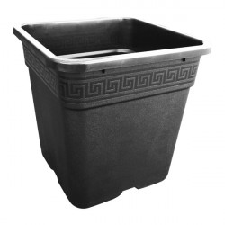 Pot carré noir 36.5X36.5X36 - 30L