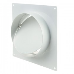 Winflex - Flange carré Ø100mm anti-retour , conduit ,gaine de ventilation