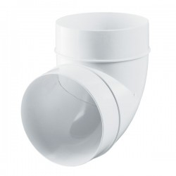 Winflex - Coude plastique 90°C Ø125mm , conduit ,gaine de ventilation