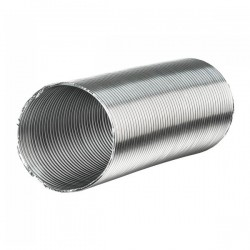 Winflex - Gaine aluminium semi-rigide Ø125mm x 3m , conduit ,gaine de ventilation