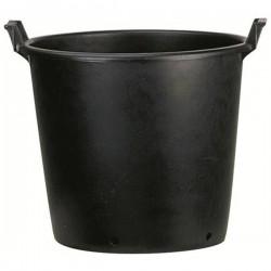 Pot ROND noir à poignées 50/45x34 43L