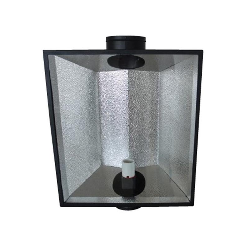 Growlite - Réflecteur Hood 6 inch 150 mm vitré ventilé 700x570x270mm , ,douille E40, pour hps ou mh 150 à 1000w
