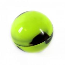 Boule silicone Ø2.5cm noir/vert
