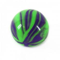 Boule silicone Ø2.5cm vert/violet