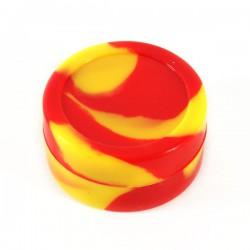 wax Boite silicone Ø4.2cm 22ml jaune/rouge