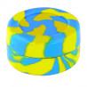 Boîte silicone diamètre 3,6 cm bleue et jaune