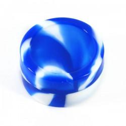 Boite silicone Ø4.2cm 22ml blanc/bleu