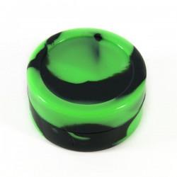 Boite silicone Ø4.2cm 22ml vert /noir