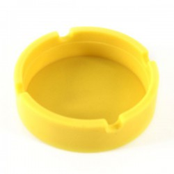 Cendrier silicone Ø 83 mm jaune
