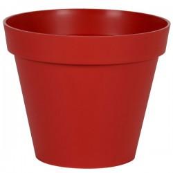 EDA Plastiques - Pot rond Toscane 48x40cm 43L Rouge Rubis