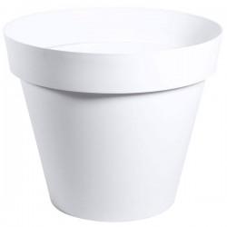 EDA Plastiques - Pot rond Toscane 48x40cm 43L Blanc