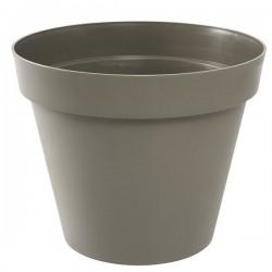 EDA Plastiques - Pot rond Toscane 60x47cm 76L Taupe