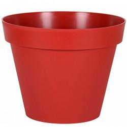 EDA Plastiques - Pot rond Toscane 60x47cm 76L Rouge Rubis