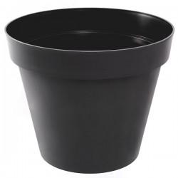 EDA Plastiques - Pot rond Toscane XL 80x66cm 170L Anthracite