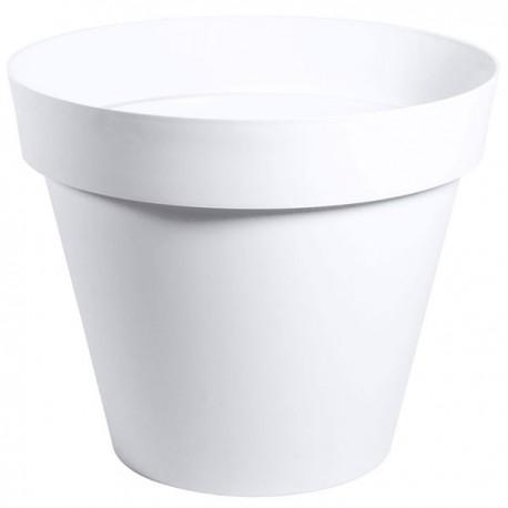 EDA Plastiques - Pot rond Toscane XL 80x66cm 170L Blanc