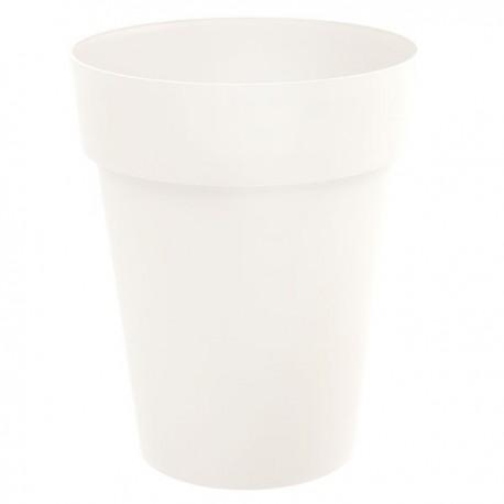 EDA Plastiques - Vase mi-haut rond Toscane 44x53cm 50L Blanc