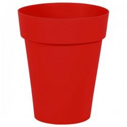EDA Plastiques - Vase mi-haut rond Toscane 44x53cm 50L Rouge Rubis