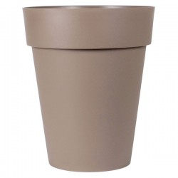 EDA Plastiques - Vase mi-haut rond Toscane 44x53cm 50L Taupe