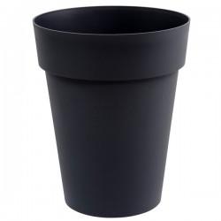 EDA Plastiques - Vase mi-haut rond Toscane 44x53cm 50L Anthracite
