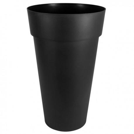 EDA Plastiques - Vase haut rond Toscane XXL 40x80cm 90L Anthracite