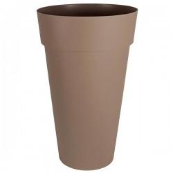 EDA Plastiques - Vase haut rond Toscane XXL 40x80cm 90L Taupe