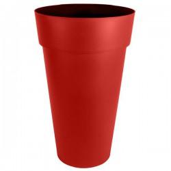 EDA Plastiques - Vase haut rond Toscane XXL 40x80cm 90L Rouge Rubis