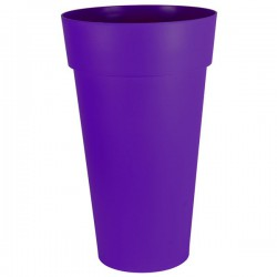 EDA Plastiques - Vase haut rond Toscane XXL 40x80cm 90L Prune