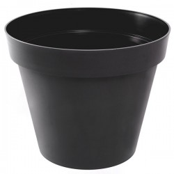 EDA Plastiques - Pot rond Toscane 48x40cm 43L Anthracite