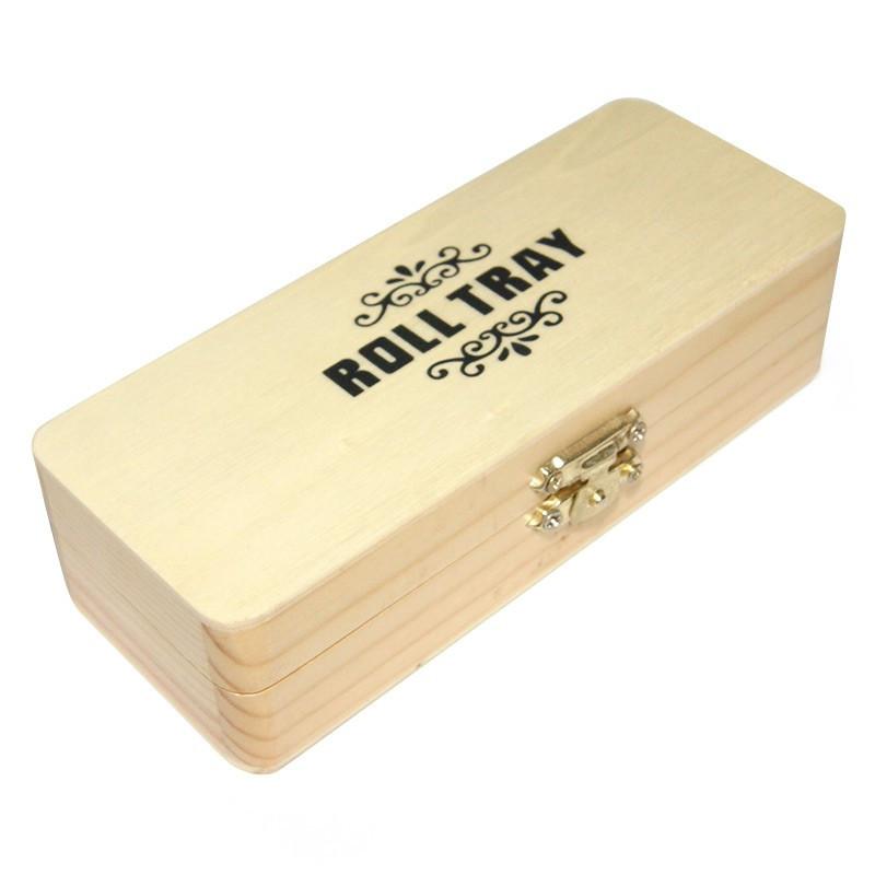 Roll Tray - Boîte rectangle en bois petit modèle