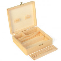 Roll Tray - Boîte rectangle en bois grand modèle