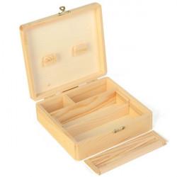 Roll Tray - Boîte rectangle en bois grand modèle