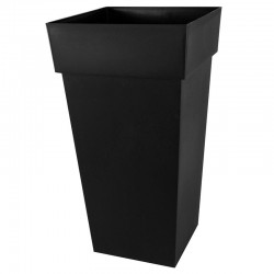 EDA Plastiques - Vase haut carré Toscane XXL 43.3x43.3x80cm 98L Anthracite
