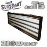 kit néons T5 Superplant 216 W FLORAISON 2700 °K , turbo néons , rampes néons