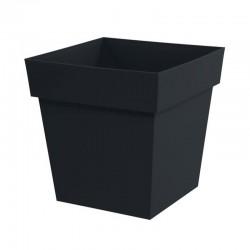 EDA Plastiques - pot bas carré Toscane XXL 39x39x39cm 38L Anthracite