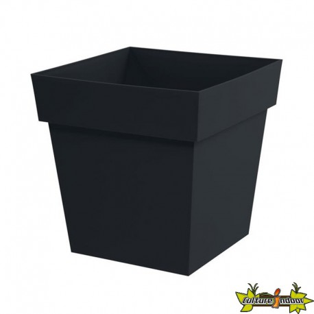 eda plastiques pot bas carr toscane xxl 39x39x39cm 38l anthracite eda plastiques 12 95. Black Bedroom Furniture Sets. Home Design Ideas