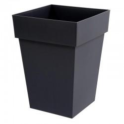 EDA Plastiques - Pot mi-haut carré Toscane 39x39x53cm 51L Anthracite