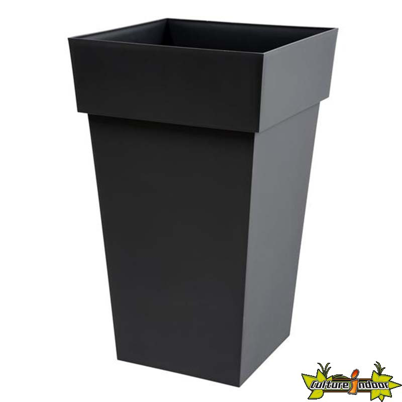 eda plastiques pot haut carr toscane 39x39x65cm 62l anthracite eda plastiques 21 95. Black Bedroom Furniture Sets. Home Design Ideas