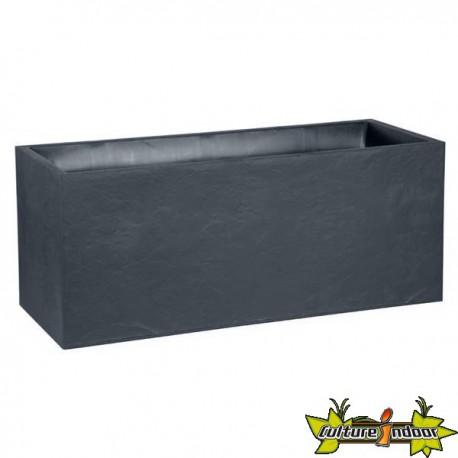 EDA Plastiques - Jardinière Volcania 99.5x39cm Anthracite