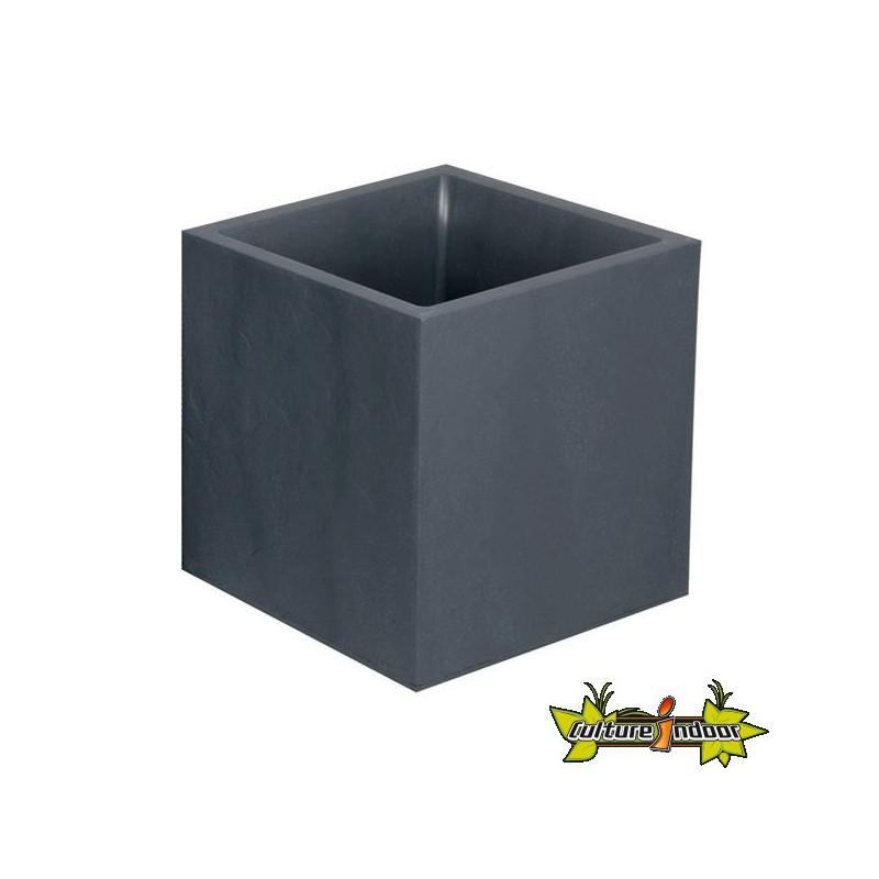 EDA Plastiques - Bac Jardinière 39x39cm Anthracite