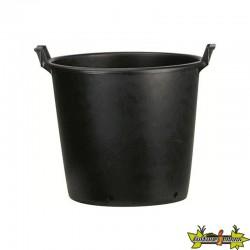 Pot rond noir à poignées 65 LITRES 55x50x41cm
