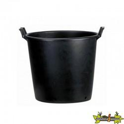 Pot rond noir à poignées 75L 56x40x49cm