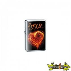 Belflam Oil - Le Briquet Essence Love Coeur En Feu Modele 3