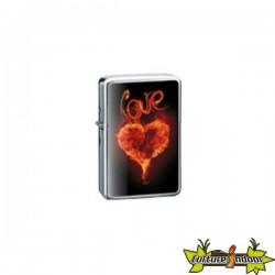 Belflam Oil - Le Briquet Essence Love Coeur En Feu Modele 4