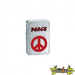 Belflam Oil - Le Briquet Essence Peace Rouge Modele 4