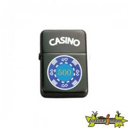 Belflam Oil - Le Briquet Essence Jeton Poker Bleu Modele 3