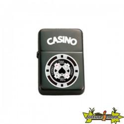 Belflam Oil - Le Briquet Essence Jeton Poker Noir/Blanc Modele 4